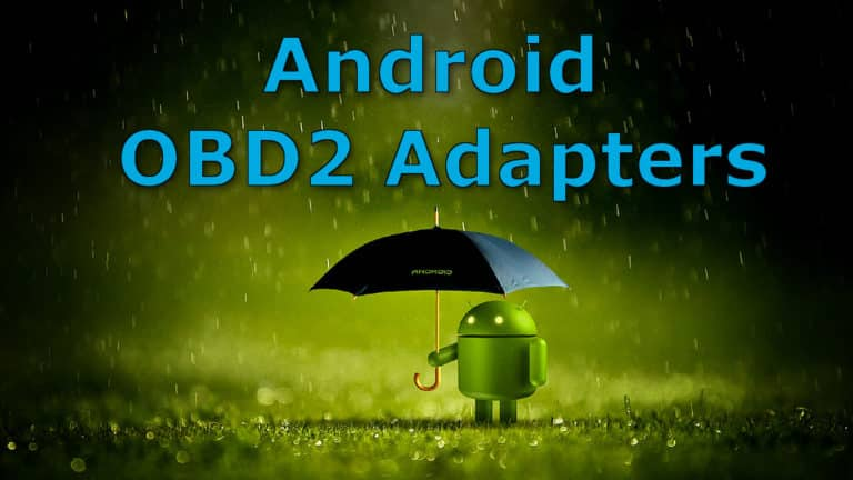 android obdii adapters holding umbrella in rain