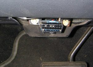 obdii connector under car