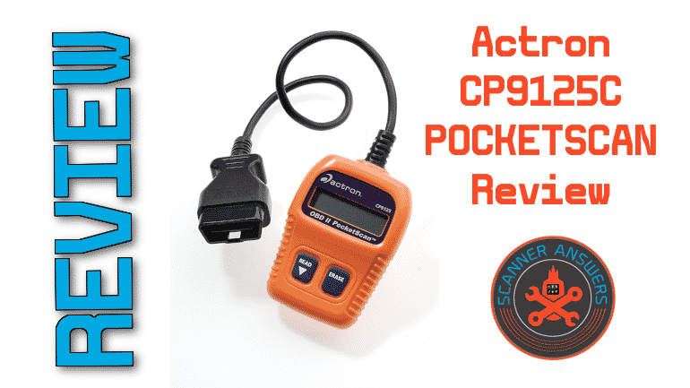 Actron CP9125C POCKETSCAN Review