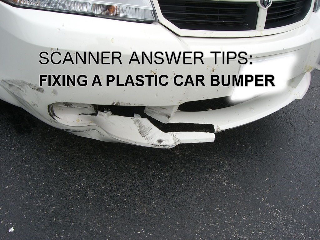 broken car bumper