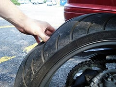 motorcycle flat tire