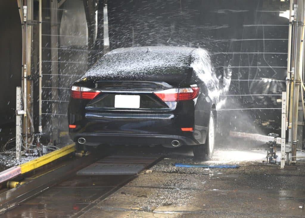 This is the lazy person way to wash a car
