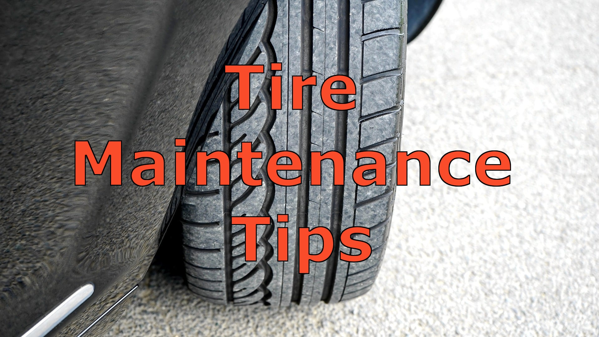 Tire Maintenance Tips