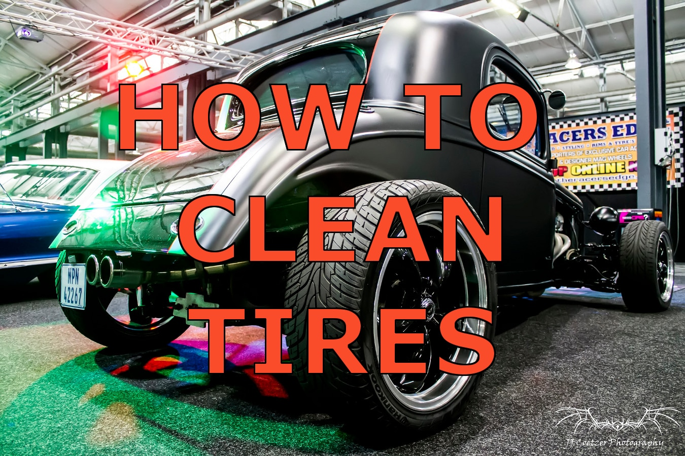clean black tires