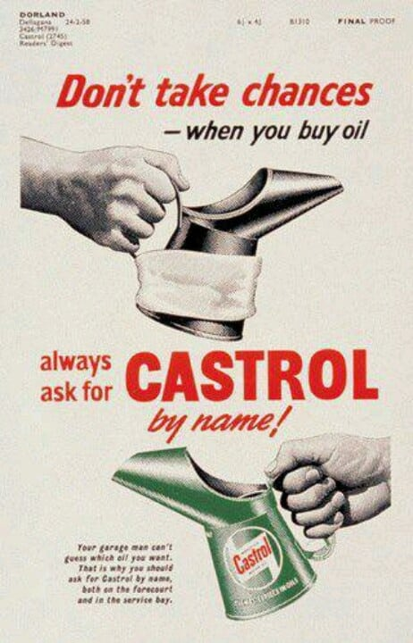 castrol synthetic engine oil advertisement