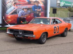 General Lee Orange Car