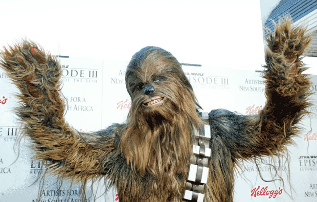 chewbacca hands up