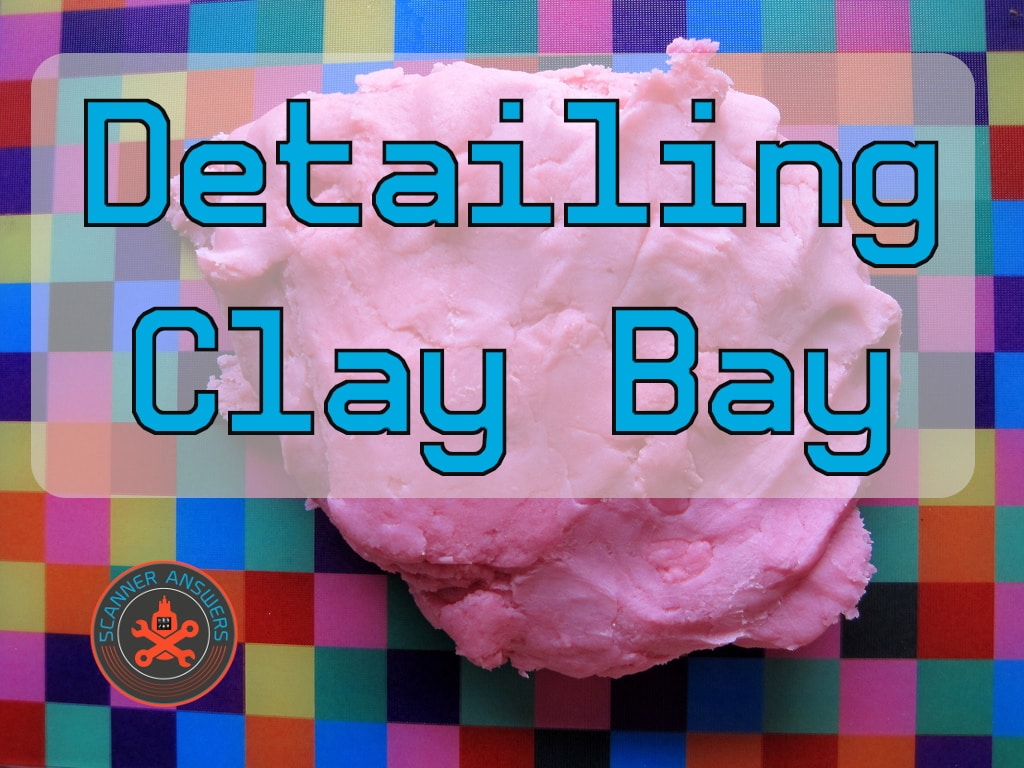 Detailing Clay Bar on Automotive Paint