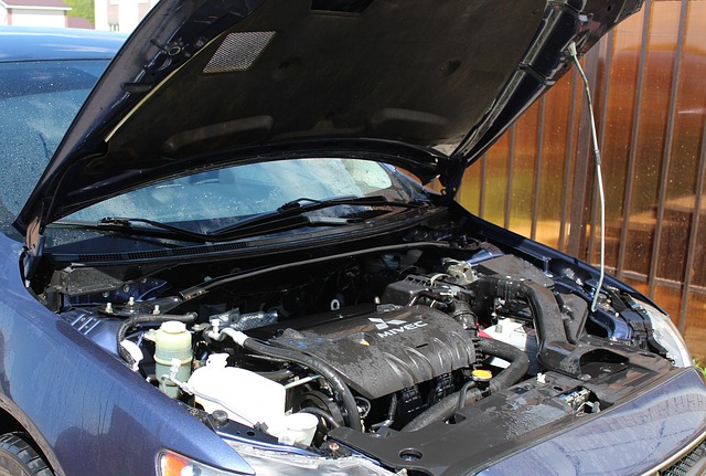 Open car hood and see the engine bay