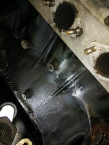 cracked engine block