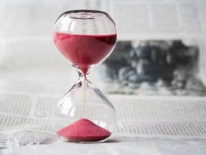 hourglass counting down