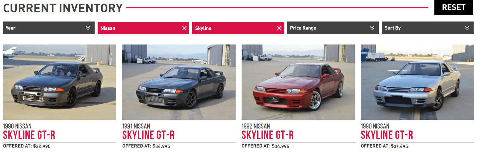 importavehicle nissan skylines for sale