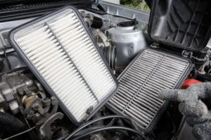 comparison between old and new engine air filter