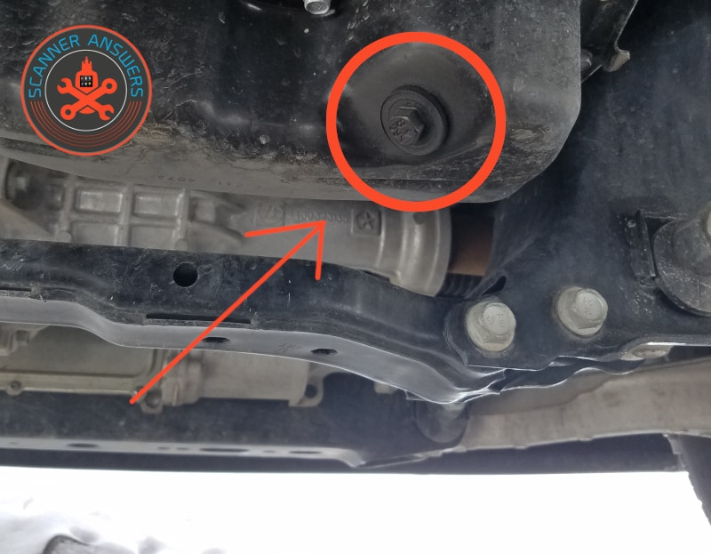 oil drain plug location - 2017 dodge ram 1500