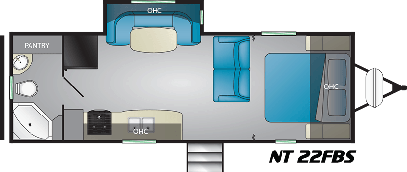 Heartland NorthTrail 22-FBS floorplan