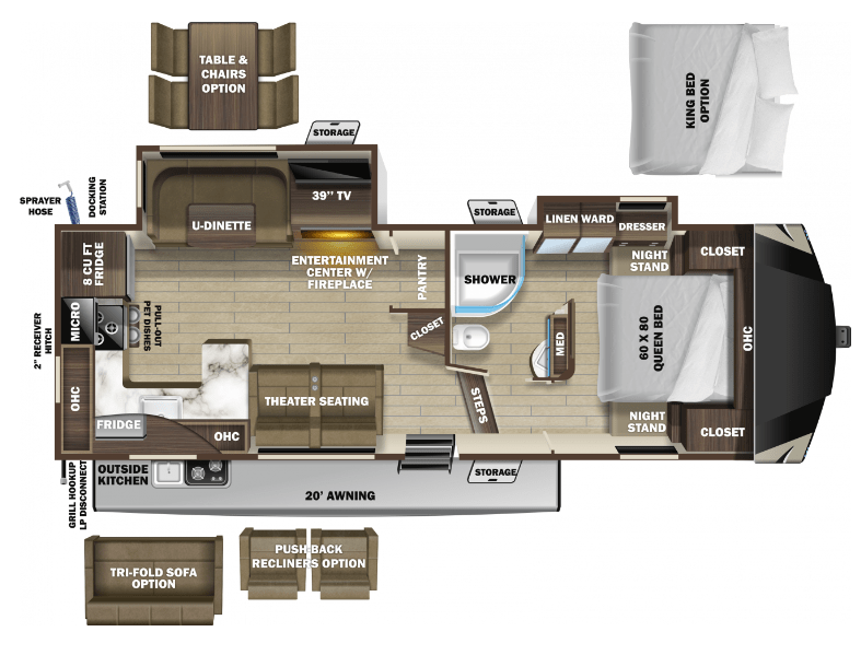 Highland Ridge Open Range Light floorplan LF280RKS
