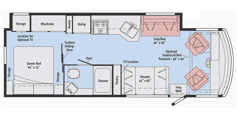 Winnebago Sunstar 29VE Floorplan