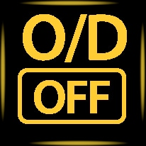 overdrive off icon symbol