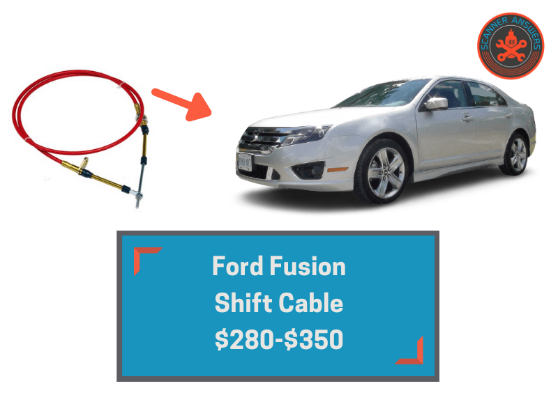 ford fusion shift cable cost