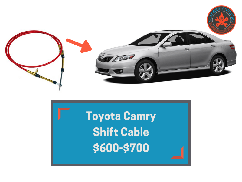 toyota camry shift cable cost